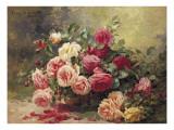 Roses Giclee Print by Albert Tibule Furcy de Lavault