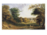 A View of Mereworth Castle and Park Giclee Print by John F . Tennant