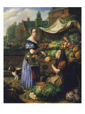 Market Stall in Bruges Giclee Print by Henri Voordecker