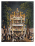 Vauxhall Garden Giclee Print by Ackermann 