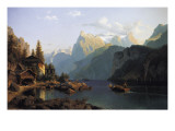 Lake Lucerne Giclee Print by Johannes Bartholomaus Duntze