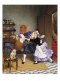 Stealing a Kiss Giclee Print by Pierre Outin