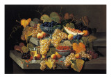 A Still Life of Melon, Cherries and Strawberries Giclee Print by Severin Roesen