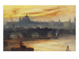 St Paul&#39;s from the River Gicl&#233;e-Druck von George Hyde Pownall