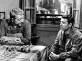 Claude Brasseur and Jean Gabin: Rue Des Prairies, 1959 Photographic Print by Marcel Dole