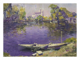 The River Seine at Mantes Giclée-tryk af Paul Mathieu
