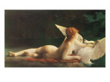 Leda and the Swan Giclee Print by Paul Prosper Tillier