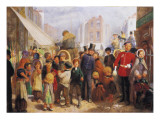 London Street Scene Giclee Print by Arthur Boyd Houghton
