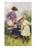 Oops-A-Daisy Giclee Print by Percy Tarrant