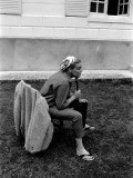 Simone Signoret, 1958 Fotografisk tryk af Luc Fournol