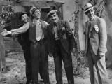 Jean Gabin, Charles Vanel, Aimos et Charles Dorat : La Belle Équipe, 1936 Photographie par  Limot