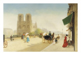 One Summer Day Near Notre-Dame Giclee Print by Emile Friant