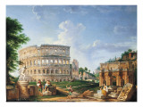 The Coliseum Giclee Print by Giovanni Paolo Pannini