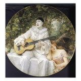 Pierrot, Colombine and Arlequin Reproduction proc&#233;d&#233; gicl&#233;e par Leon Francois Comerre