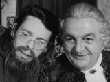 Jacques Brel and Bernard Blier: Mon Oncle Benjamin, 1969 Fotografisk trykk av Marcel Dole