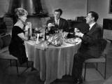 Jean-Paul Belmondo, Paul Meurisse and Dany Robin: La Française et L'Amour, 1960 Photographic Print by  Limot