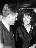 Jackie and John Fitzgerald Kennedy Photographic Print by Luc Fournol