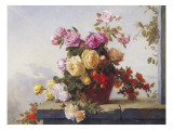 A Still Life of Roses Giclee Print by Paul Claude Jance