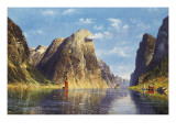 A Calm Day on the Fjord Giclee Print by Adelsteen Normann
