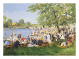 At the Regatta Giclee Print by Percy Robert Craft