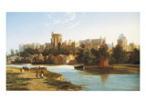 View of Windsor from the Thames Giclee Print by William Dommerson