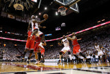 Chicago Bulls v Miami Heat - Game Three, Miami, FL - MAY 22: LeBron James Photographic Print by Mike Ehrmann