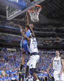 Oklahoma City Thunder v Dallas Mavericks - Game Two, Dallas, TX - MAY 19: Kevin Durant and Brendan  Photographic Print by Glenn James