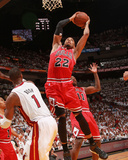 Chicago Bulls v Miami Heat - Game Three, Miami, FL - MAY 22: Taj Gibson and Chris Bosh Photographic Print by Victor Baldizon