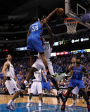 Oklahoma City Thunder v Dallas Mavericks - Game Two, Dallas, TX - MAY 19: Kevin Durant and Brendan  Lámina fotográfica por Tom Pennington