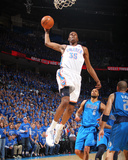 Dallas Mavericks v Oklahoma City Thunder - Game Four, Oklahoma City, OK - MAY 23: Kevin Durant and  Photographic Print by Joe Murphy