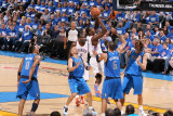 Dallas Mavericks v Oklahoma City Thunder - Game Three, Oklahoma City, OK - MAY 21: Serge Ibaka, Jas Photographic Print by Joe Murphy
