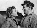 Annie Girardot et Lino Ventura : Le Bateau d'Emile, 1962 Papier Photo par Marcel Dole