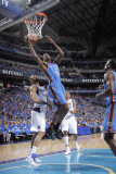 Oklahoma City Thunder v Dallas Mavericks - Game Two, Dallas, TX - MAY 19: Kevin Durant and Tyson Ch Photographic Print by Glenn James