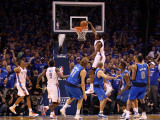 Dallas Mavericks v Oklahoma City Thunder - Game Four, Oklahoma City, OK - MAY 23: Kevin Durant Photographic Print by Christian Petersen