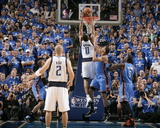 Oklahoma City Thunder v Dallas Mavericks - Game Two, Dallas, TX - MAY 19: Shawn Marion, Thabo Sefol Photographic Print by Glenn James