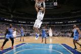 Oklahoma City Thunder v Dallas Mavericks - Game Two, Dallas, TX - MAY 19: Tyson Chandler and Kendri Photographic Print by Glenn James