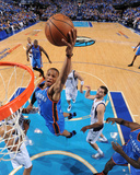 Oklahoma City Thunder v Dallas Mavericks - Game Two, Dallas, TX - MAY 19: Russell Westbrook, Tyson  Photographic Print by Andrew Bernstein