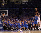 Dallas Mavericks v Oklahoma City Thunder - Game Four, Oklahoma City, OK - MAY 23: Kevin Durant, Sha Photographic Print by Ronald Martinez