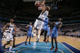 Oklahoma City Thunder v Dallas Mavericks - Game Two, Dallas, TX - MAY 19: Dirk Nowitzki, Serge Ibak Photographic Print by Glenn James