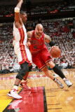 Chicago Bulls v Miami Heat - Game Three, Miami, FL - MAY 22: Carlos Boozer and Chris Bosh Photographic Print by Victor Baldizon