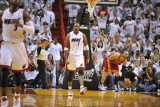 Chicago Bulls v Miami Heat - Game Three, Miami, FL - MAY 22: Chris Bosh Photographic Print by David Dow