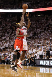 Chicago Bulls v Miami Heat - Game Four, Miami, FL - MAY 24: LeBron James, Luol Deng Photographic Print by Mike Ehrmann