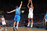 Dallas Mavericks v Oklahoma City Thunder - Game Four, Oklahoma City, OK - MAY 23: Eric Maynor and J Photographic Print by Joe Murphy