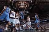 Oklahoma City Thunder v Dallas Mavericks - Game Two, Dallas, TX - MAY 19: Russell Westbrook, Peja S Photographic Print by Danny Bollinger