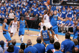 Dallas Mavericks v Oklahoma City Thunder - Game Three, Oklahoma City, OK - MAY 21: James Harden, Di Photographic Print by Joe Murphy