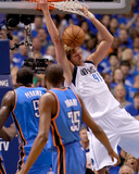 Oklahoma City Thunder v Dallas Mavericks - Game Two, Dallas, TX - MAY 19: Dirk Nowitzki, Kendrick P Photo by Tom Pennington