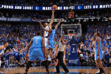 Oklahoma City Thunder v Dallas Mavericks - Game Two, Dallas, TX - MAY 19: Tyson Chandler and Serge  Photographic Print by Andrew Bernstein