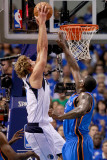 Oklahoma City Thunder v Dallas Mavericks - Game Two, Dallas, TX - MAY 19: Dirk Nowitzki, Kendrick P Photographic Print by Tom Pennington