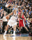 Portland Trail Blazers v Dallas Mavericks - Game One, Dallas, TX - APRIL 16: Dirk Nowitzki and LaMa Photo by Glenn James