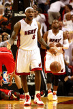 Chicago Bulls v Miami Heat - Game Four, Miami, FL - MAY 24: Dwyane Wade and LeBron James Photographic Print by Marc Serota